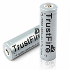 TrustFire TR 18500 battery 1800mah with PCB and button top