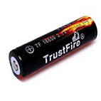 Trustfire Battery 18650 3000mAh 3.7V  Li-ion with button top and PCB
