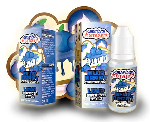 American Stars e-liquid 10ml - Blueberry Cheesecake