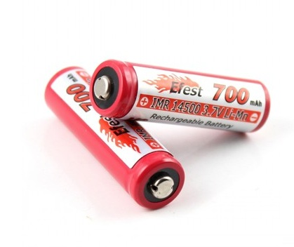 Efest V2 IMR 14500 button top 700mAh 3.7V rechargeable battery