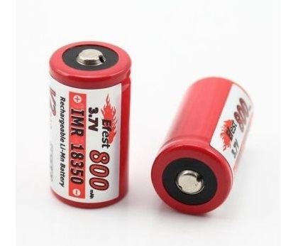 Efest IMR 18350 800mAh 3.7V LiMn Battery - button top