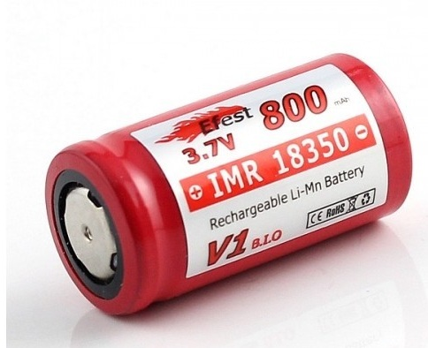 Efest IMR 18350 800mAh 3.7V LiMn Battery - flat top
