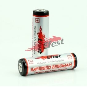 Rechargeable Efest IMR 18650 HD 2250mAh Battery - Button Top