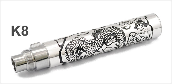 Engraved eGo-K 1100mAh Battery K8 - model dragon