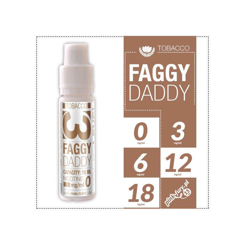 Pink Fury E-liquid 15ml - Faggy Daddy Western Tobacco