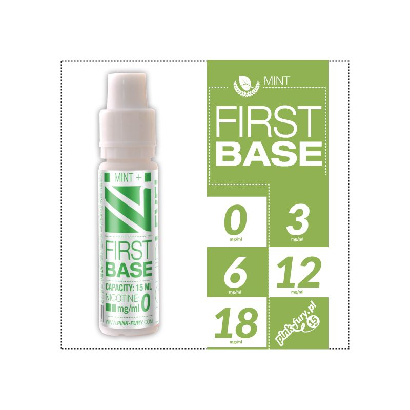 Pink Fury E-liquid 15ml - First Base Sweet Mint