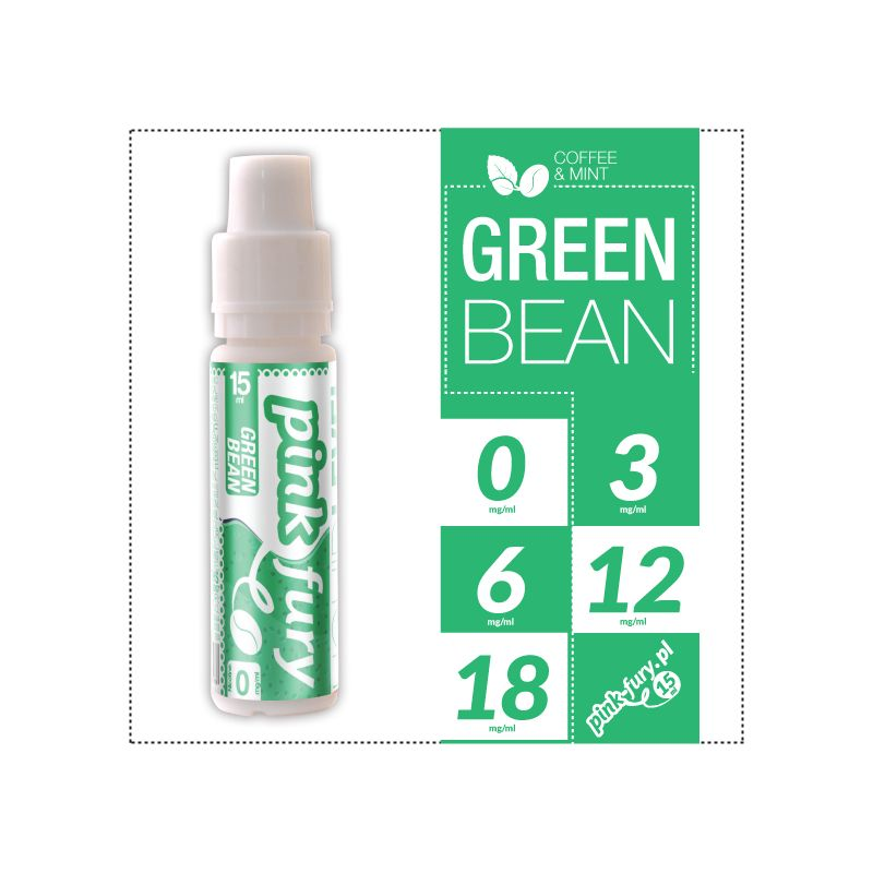 Pink Fury E-liquid 15ml - Green Bean Coffee and Mint
