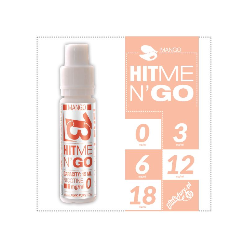 Pink Fury E-liquid 15ml - Hit Me N`Go Mango