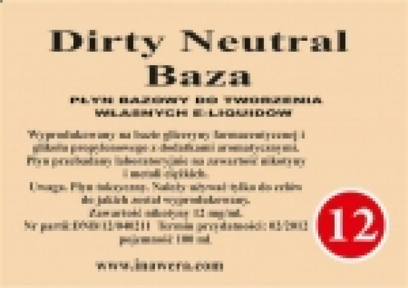 Inawera - Dirty Neutral Base - nicotine 12 mg/ml 100 ml