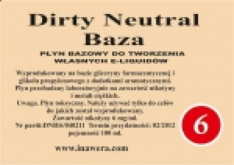 Inawera - Dirty Neutral Base - nicotine 6 mg/ml 100 ml