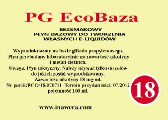 Inawera PG Eco Base  - nicotine 18 mg/ml 100 ml
