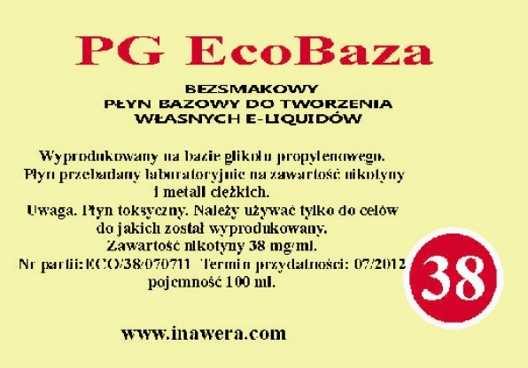 Inawera PG Eco Base  - nicotine 36 mg/ml 100 ml