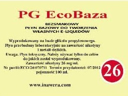 Inawera PG Eco Base  - nicotine 26 mg/ml 100 ml