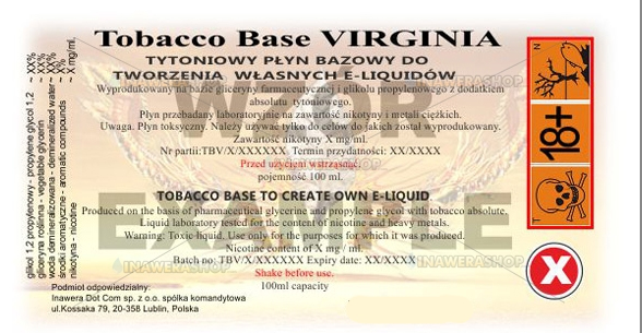 Inawera - Virginia base tobacco - nicotine 24 mg/ml 100 ml