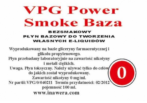 Inawera - VPG Smoke Power Base - nicotine 0 mg/ml 100 ml