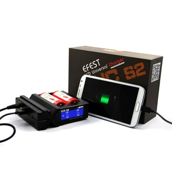 Efest Luc S2 LCD Multi-function universal battery charger