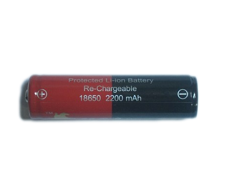 L-Rider 18650 protected battery 2200mAh button top