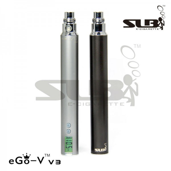 SLB eGo-V v3 MEGA battery 1300mah PassThrough variable voltage 3-6V and variable wattage 3-15W