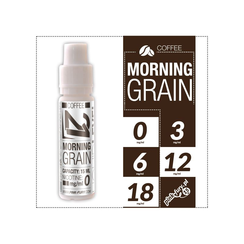 Pink Fury E-liquid 15ml - Morning Grain Coffee