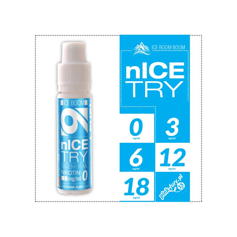 Pink Fury E-liquid 15ml - Nice Try Iced Mint
