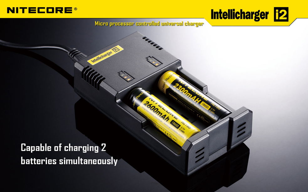 Nitecore universal intellicharger i2 with car adapter cable