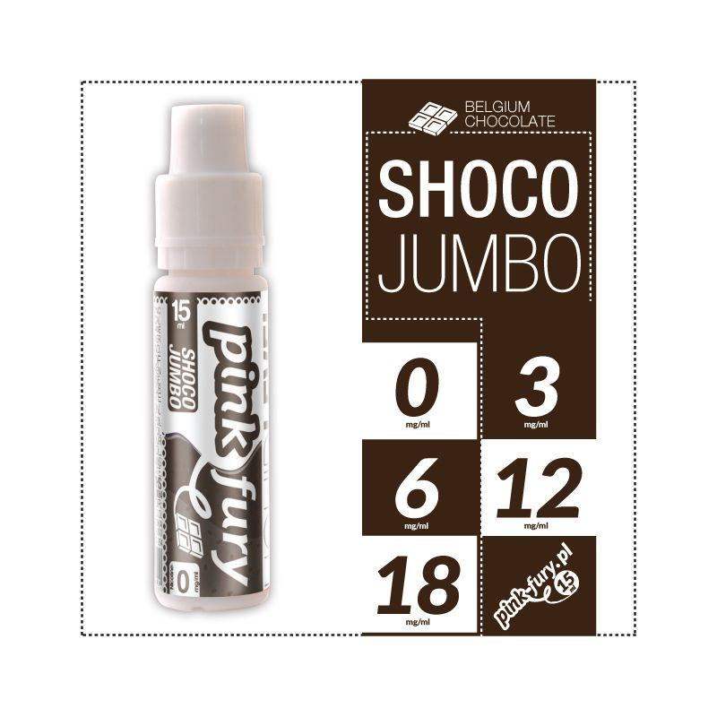 Pink Fury E-liquid 15ml - Shoco Jumbo Belgian Chocolate