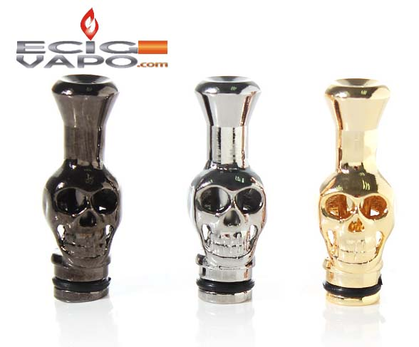 Skull 901/510 Metal Plated Drip Tips for electronic cigarette