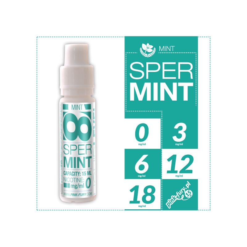 Pink Fury E-liquid 15ml - Spearmint Menthol