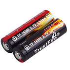 TrustFire TF 14500 900mAh 3.7V rechargeable battery with button top and PCB