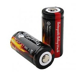 TrustFire 16340 880mAh 3.7V Rechargeable battery