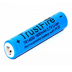 TrustFire TR 14650 PCB 1600mAh 3.7V button top battery