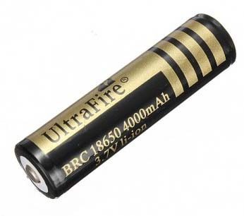 UltraFire BRC 18650 4000mAh battery 3.7V with PCB and button top
