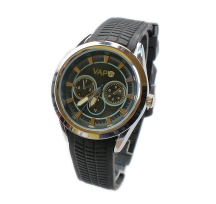 Vapo watch black screen and azure stripes