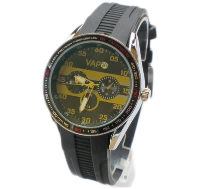 Vapo watch black screen and yellow stripes