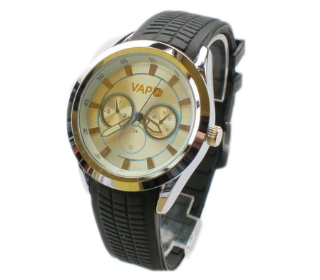 Vapo watch silver screen and azure stripes