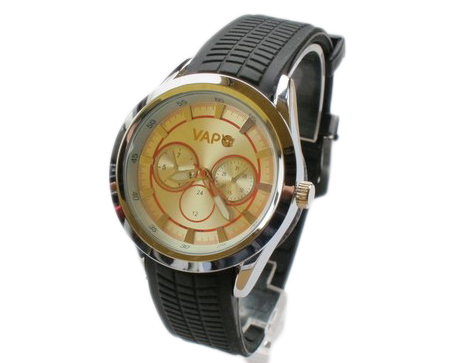 Vapo watch silver screen and oranges stripes