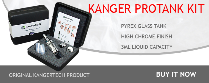 Kanger Protank Kit with pyrex glass tank ( bottom coil glassomizer )